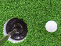 Artificial Turf Golf Greens Installation in Del Mar, Putting Greens Turf Company